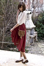 Burgundy-sheinside-skirt