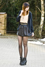 Romwe-shirt-studded-black-rowme-skirt