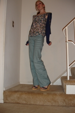 Anthropologie blouse - Anthropologie pants - Anthropologie sweater - Colin Stuar