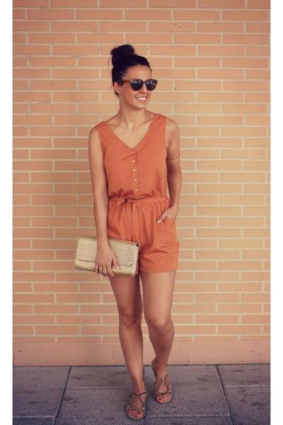 a54c318a9db gold H M bag - burnt orange Primark shorts - gold Zara sandals