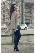 heather gray Bershka blouse - pink Mahe coat