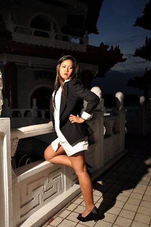 black blazer - white shirt - black shoes