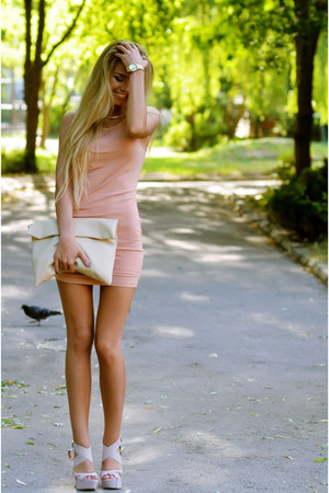 peach forever1 dress