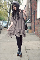 H&M hat - free people dress - carol marie ring - carol marie bracelet