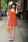 Orange-spotted-moth-dress