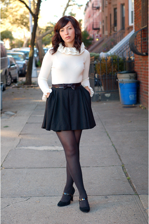 black H&M skirt - black Target shoes - black Target tights