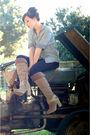 Blue-tory-burch-jeans-blue-h-m-shirt-brown-nine-west-boots