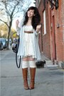 Heather-gray-vintage-sweater-cream-forever-21-socks-brown-seychelles-boots-