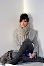 Charcoal-gray-wanted-boots-heather-gray-asian-icandy-coat