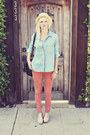 Light-blue-anthropologie-shirt-beige-h-m-flats-salmon-studio-12-20-pants