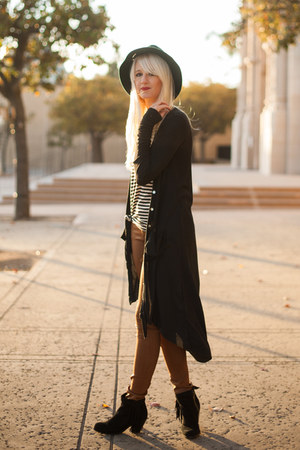 sam edelman boots - PacSun sweater - Earnest Sewn pants