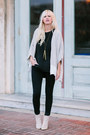 Black-madewell-top-off-white-kimono-hackwith-design-cardigan
