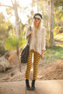 Black-urban-outfitters-hat-ivory-free-people-sweater-gold-afends-leggings