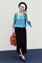Jeffrey Campbell heels - H&M bag - JCrew skirt - Anthropologie top
