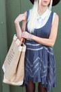 Tan-aloha-sunday-bag-brown-dolce-vita-boots-blue-free-people-dress