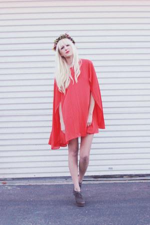 red dress - dark gray Dolce Vita heels