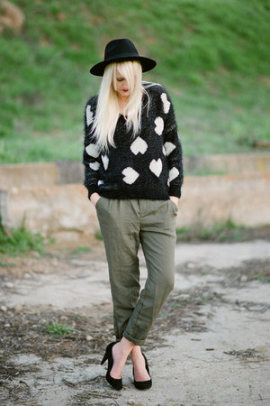 Sheinside sweater - olive green Ella Moss pants