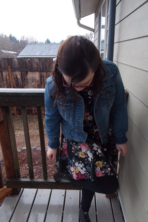 Forever 21 dress - JCPenney jacket - Tommy Hilfiger leggings
