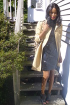 trenchcoat H&M jacket - Express dress - leopard print Nine West bag