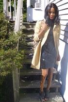 trenchcoat H&M jacket - Express dress - leopard print Nine West bag