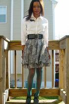 J Crew shirt - Topshop skirt