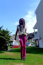 Guess pants - vintage bag - vintage 80s top - f21 wedges