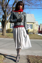 vintage jacket - f21 cardigan - vintageBest & Co skirt - Marshalls stockings - f