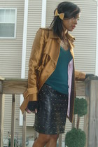 gold no name blazer - black CarollParis vintage 80s skirt - BCBGgirls shoes - vi