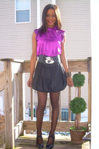 f21 shirt - f21 skirt - Bumper from Burlington Coat Factory shoes - Vintage flyi