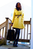 Bakers shoes - thrifted coat - striped f21 shirt - vintage bag - thrifted belt -