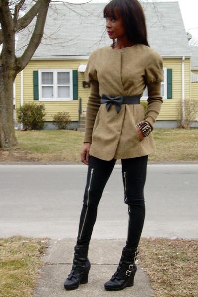 Kenzo jacket - tripp leggings - Jeffrey Campbell boots