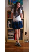 forever 21 skirt - t-shirt - Converse shoes