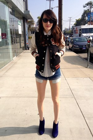 blue cut offs Vintage Levis shorts - carrot orange Target jacket
