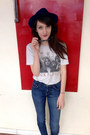 Distressed-chaser-shirt-vintage-hat-cat-eye-marc-by-marc-sunglasses