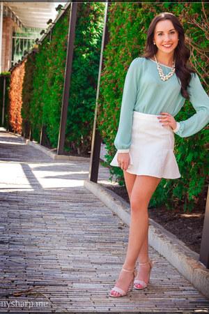 Forever 21 blouse - white Akira skirt
