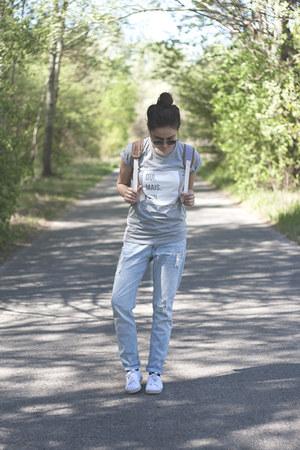 H&M jeans - Takko bag - Sheinside sunglasses - New Yorker sneakers