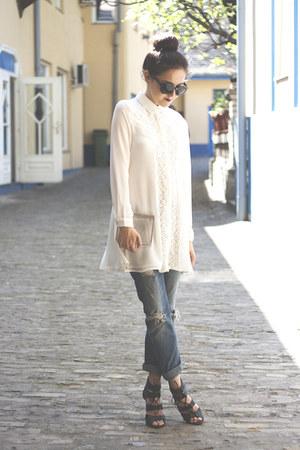 style moi dress - Zara jeans - Choies bag - Sheinside bracelet