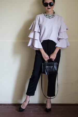 H&M bag - Yoins jacket - shein sunglasses - Choies necklace - H&M pants