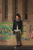 Calliope bag - Yoins jacket - c&a scarf - Calliope pants - zaful blouse