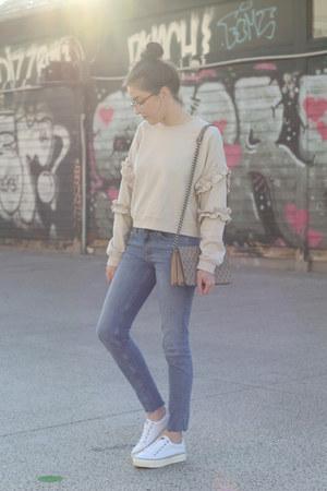 H&M jeans - H&M bag - H&M sweatshirt - Napapijri sneakers