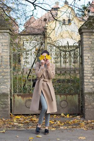 H&M coat - Kickers shoes - H&M sweater - sammydress bag - H&M pants