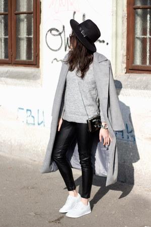 GAMISS coat - H&M sweater - Bershka leggings - dresslily bag - Lacoste sneakers
