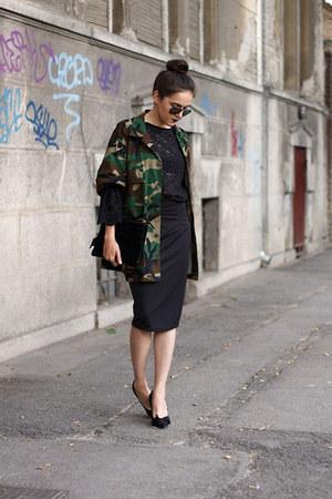 pieces bag - ray-ban sunglasses - DealSale skirt - H&M blouse