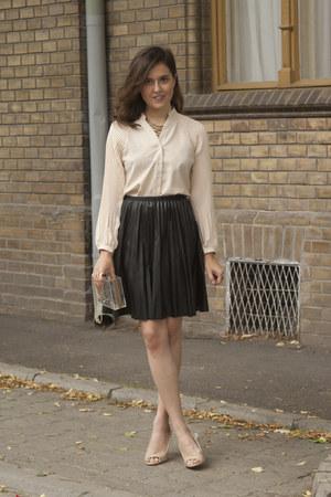 PERSUNMALL necklace - Sheinside shirt - Choies bag - Yoins skirt - StyleMoi ring