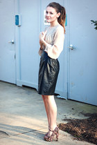 f21 heels - H&M dress
