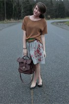 knit H&M sweater - Urban Outfitters bag - Von Maur skirt