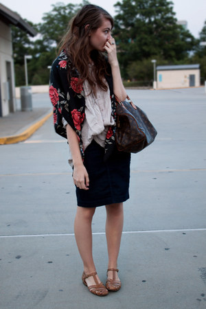 H&M scarf - Louis Vuitton bag - banana republic skirt - kim rogers sandals - f21