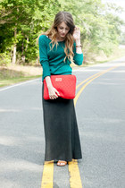 Old Navy sweater - Marc by Marc Jacobs bag - maxi skirt - Old Navy sandals