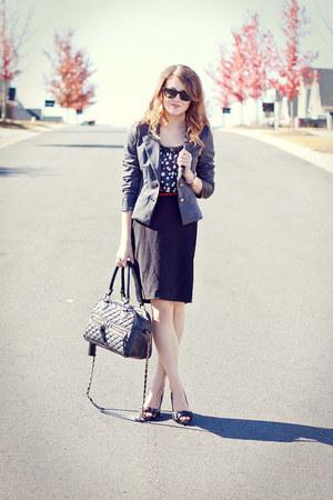 Forever21 blazer - theIT bag - Charlotte Russe heels - Target belt