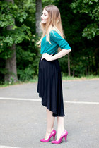 high-low Windsor Store skirt - Old Navy sweater - f21 heels
